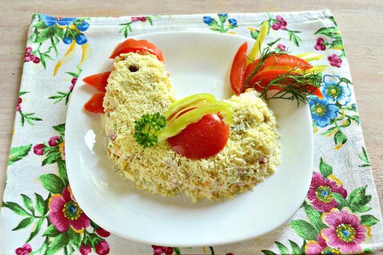 Салат грибная поляна с опятами и сыром рецепт с