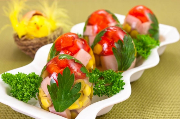Как приготовить заливные яйца; Фаберже?</p> <p> Пошаговый рецепт с фото