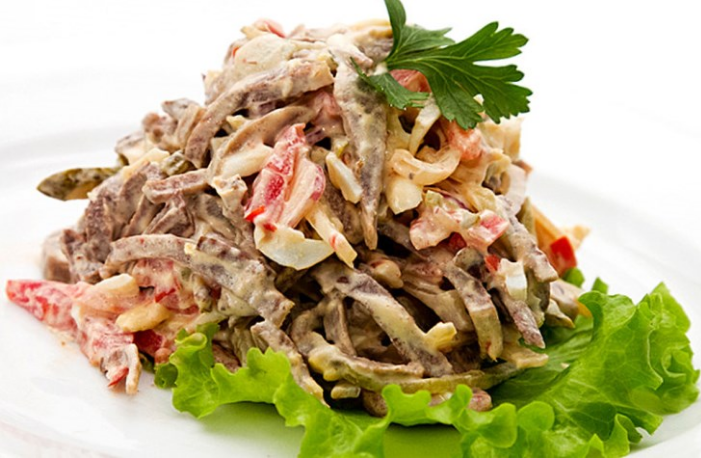 Салат из свиного языка простой