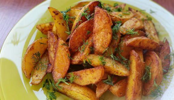 картофель по деревенски в духовке рецепт с фото с мясом