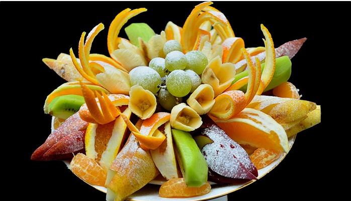 как украсить фрукты на столе фото