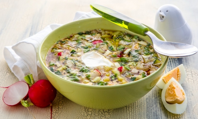 Окрошка — рецепты приготовления на кефире с минералкой