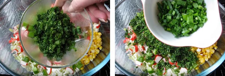 Рецепт салат с крабовыми палочками
