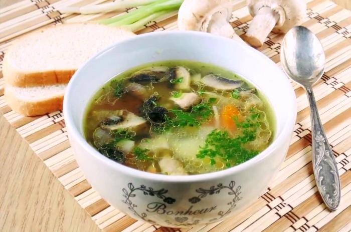 как приготовить суп из свежих грибов вкусный