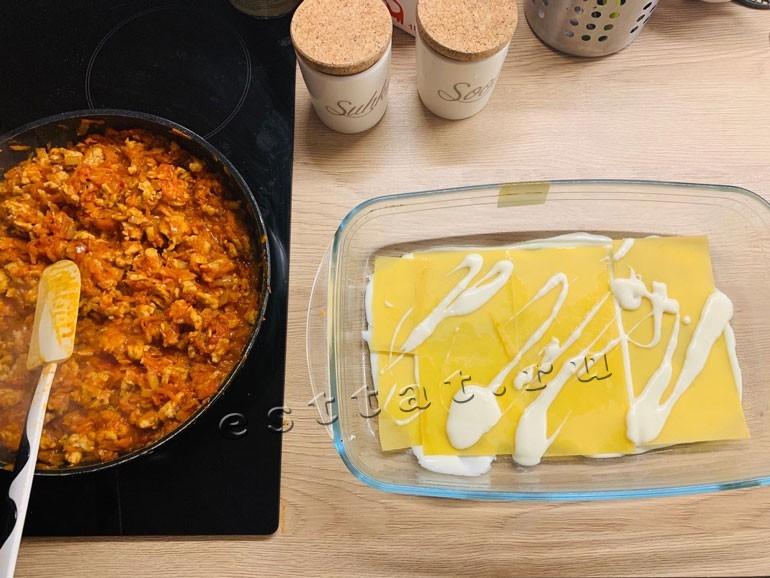 Лазанья с курицей - рецепт приготовления в домашних условиях