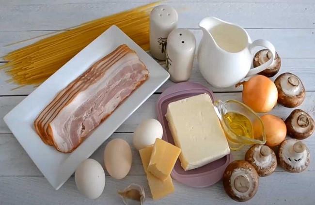 Карбонара - рецепт пасты с беконом